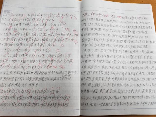漢検準1級(ノート)