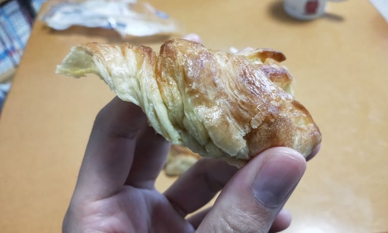 ローソンブランのバタースティック(断面)