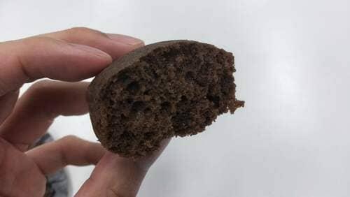 ローソンの8.プロティン入りチョコ蒸しケーキ