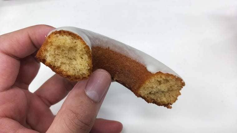 ローソンの塩バニラドーナツ(断面)