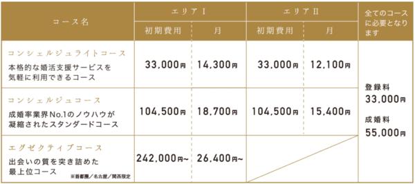 パートナーエージェントの価格表