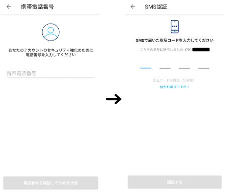 PayPayの登録画面