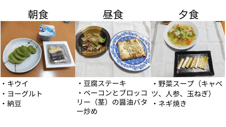 月曜断食の食事(5日目)