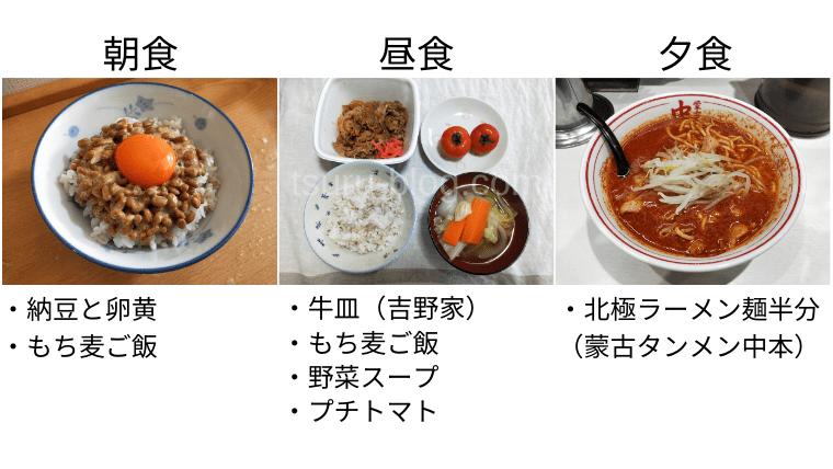 月曜断食の食事(6日目)