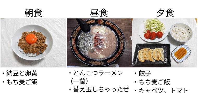 月曜断食の食事(7日目)