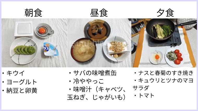 月曜断食の食事(10日目)