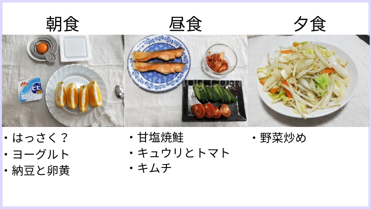 月曜断食の食事(12日目)