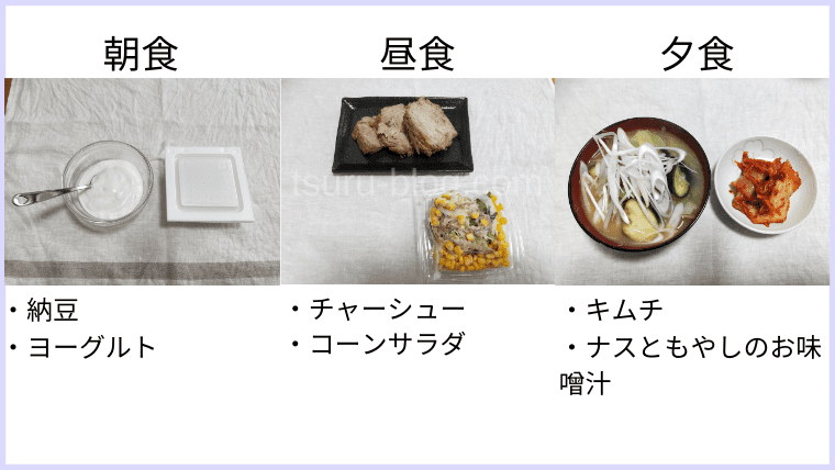 月曜断食の食事(14日目)