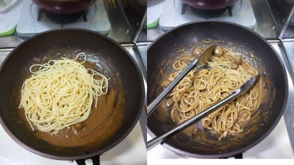 カレーカルボナーラ(麺と合わせる)