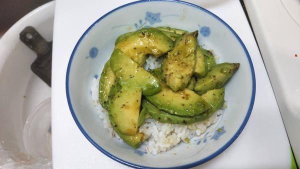 アボカド漬け丼(丼調理)