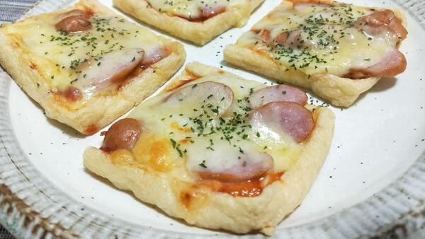 油揚げピザ(完成品)